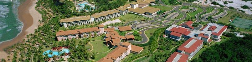 Vista aérea do complexo hoteleiro