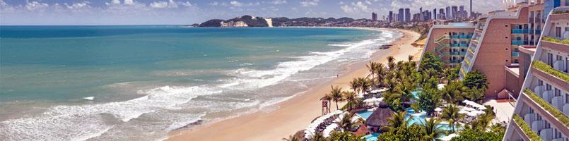 Vista geral da Praia da Ponta Negra